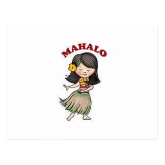 Mahalo Postcard