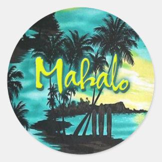 Mahalo Sunset Classic Round Sticker