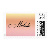Mahalo Sunset Postage Stamp - Design #14