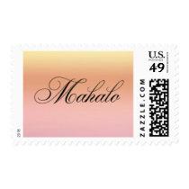 Mahalo Sunset Postage Stamp - Design #25