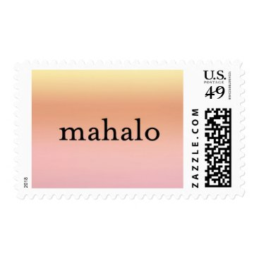 Mahalo Sunset Postage Stamp - Design #30