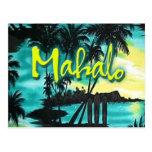 Mahalo Sunset Postcard