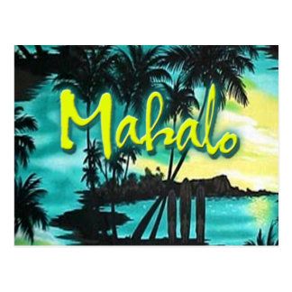 Mahalo Sunset Post Cards