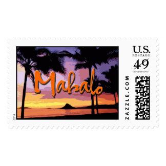 Mahalo Sunset Stamp