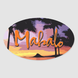Mahalo Sunset Sticker
