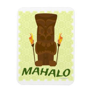 Mahalo Tiki Fun Rectangular Photo Magnet