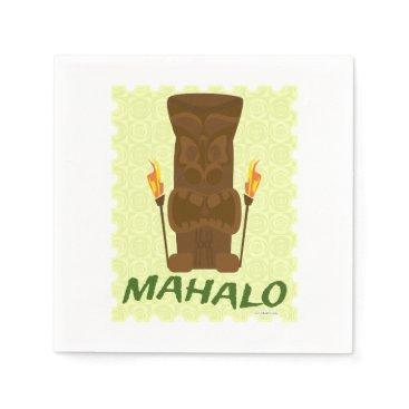 Retrofort Mahalo Tiki God Paper Napkin