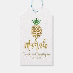 Mahalo Tropical Hawaiian Pineapple Wedding White Gift Tags  sc 1 st  Zazzle & Destination Hawaii Hawaiian Wedding Gifts | Zazzle