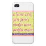 MAHAMRITUNJAYA Mantra - Golden Yellow iPhone 4 Cover