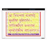 """MAHAMRITUNJAYA Mantra - Golden Yellow Decal For 17"""" Laptop"""