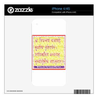 MAHAMRITUNJAYA Mantra - Golden Yellow Skin For The iPhone 4S