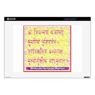 """MAHAMRITUNJAYA Mantra - Golden Yellow Decal For 15"""" Laptop"""