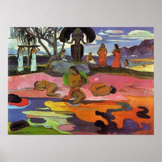 """Mahana ninguna impresión de Atua"" - Paul Gauguin Impresiones"