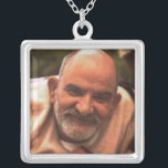 """Maharaj-ji Neem Karoli Baba Silver Plated Necklace<br><div class=""""desc"""">The beloved Maharaj-ji,  Neem Karoli Baba,  who taught us by His radiant prescence to &quot;love everyone. serve everyone. feed everyone. tell the truth. remember God.&quot;</div>"""