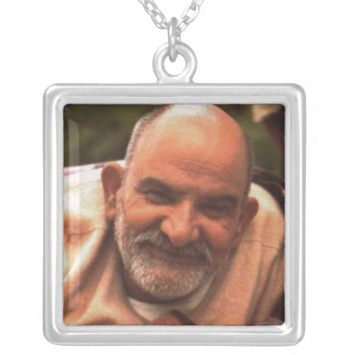 Maharaj-ji Neem Karoli Baba Silver Plated Necklace