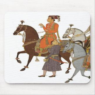 Maharajá a caballo, cojín de ratón indio del arte, alfombrilla de ratón
