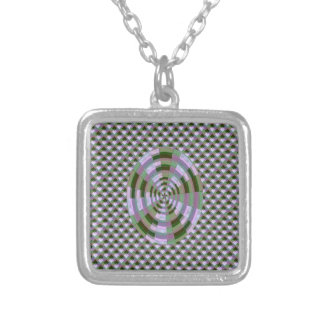 MAHARAJA Palace Window Patterns Silver Plated Necklace