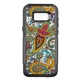 Maharani Queen Paisley Turquoise Orange Red Yellow OtterBox Commuter Samsung Galaxy S8+ Case