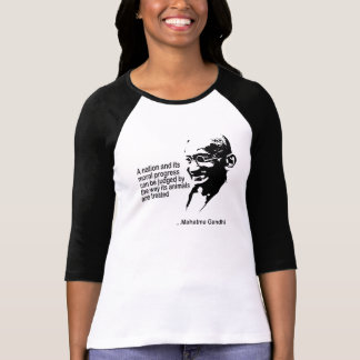 Mahatma Gandhi Animal Rights Ladies T-shirts