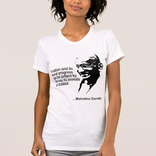 Mahatma Gandhi Animal Rights Ladies Tshirts