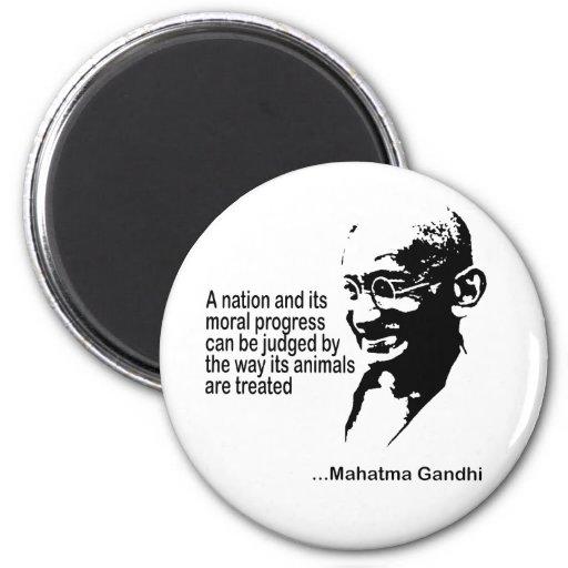 Mahatma Gandhi Animal Rights Refrigerator Magnet