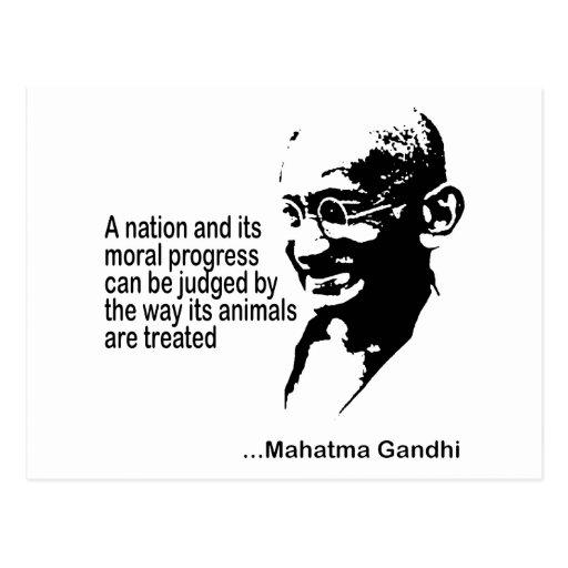 Mahatma Gandhi Animal Rights Postcard