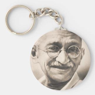 Mahatma Gandhi Basic Round Button Keychain