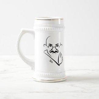 Mahatma Gandhi Beer Stein