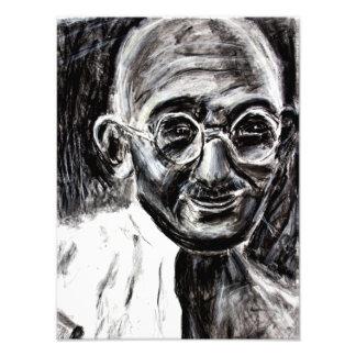 Mahatma Gandhi Charcoal on photo paper Photo Print