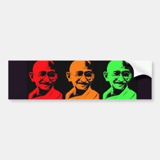 Mahatma Gandhi Collage Bumper Sticker