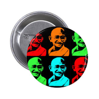 Mahatma Gandhi Collage Button