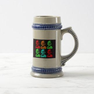 Mahatma Gandhi Collage Coffee Mugs