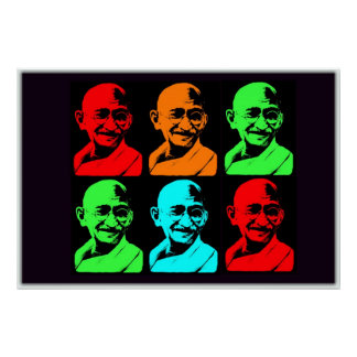 Mahatma Gandhi Collage Poster