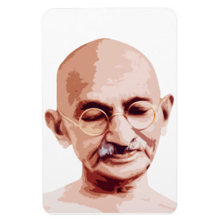 Mahatma Gandhi Father of India Rectangle Magnet