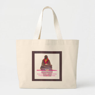 Mahatma GANDHI Father of Nation India Large Tote Bag