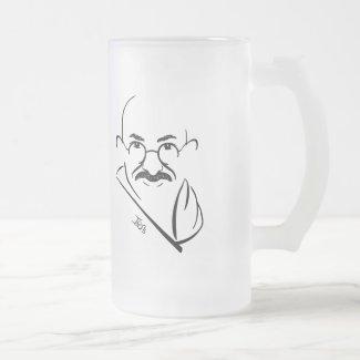 Mahatma Gandhi Frosted Mug