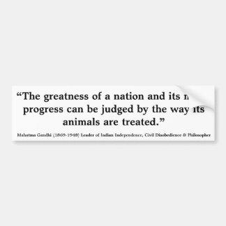 MAHATMA GANDHI la grandeza de una nación juzgada Pegatina Para Auto