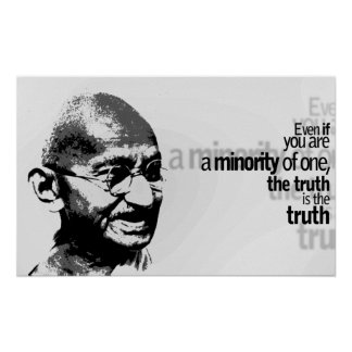 Mahatma Gandhi Motivational Typography Quote Poster