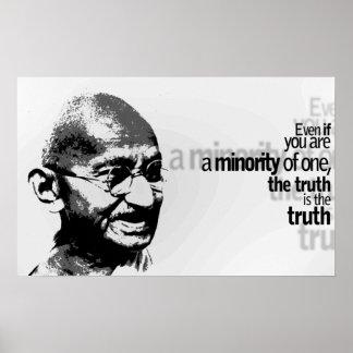 Mahatma Gandhi Motivational Typography Quote Poster