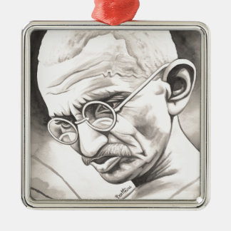 Mahatma Gandhi Ornamento De Navidad