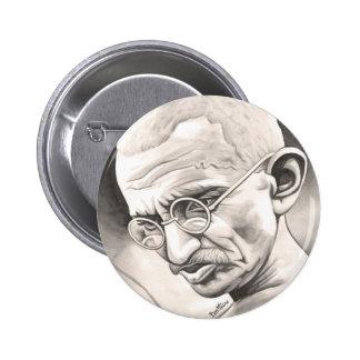 Mahatma Gandhi Pin Redondo 5 Cm