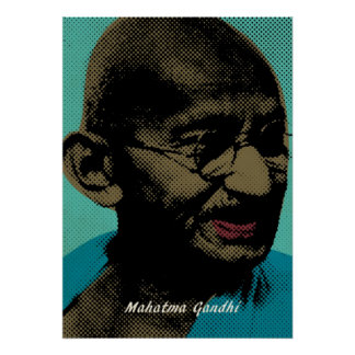 Mahatma Gandhi Pop Art Pictures Poster