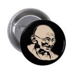Mahatma Gandhi Portrait Button