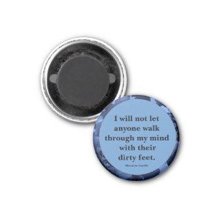 Mahatma Gandhi quote 1 Inch Round Magnet