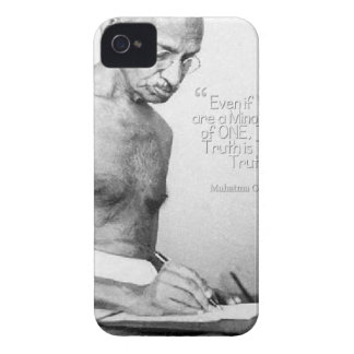 Mahatma Gandhi Quote, Minority of One, Truth iPhone 4 Cover