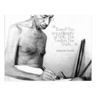 Mahatma Gandhi Quote, Minority of One, Truth Postcard