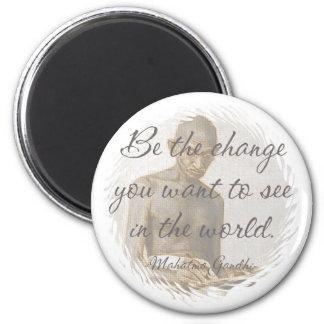 Mahatma Gandhi Quote Refrigerator Magnet