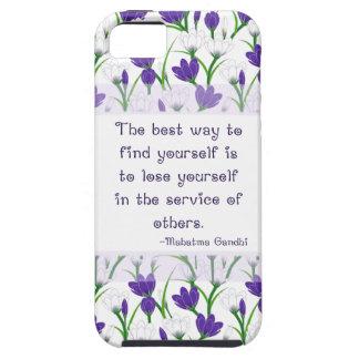 Mahatma Gandhi Quote- Spring Crocus Flowers iPhone 5 Cover