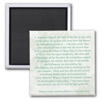 Mahatma Gandhi Quotes Fridge Magnet