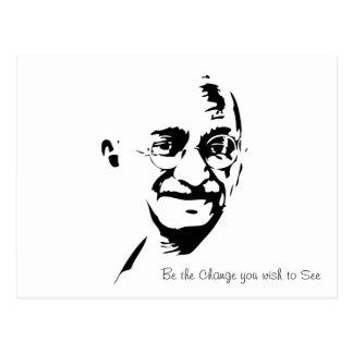 Mahatma Gandhi - sea el cambio - postal